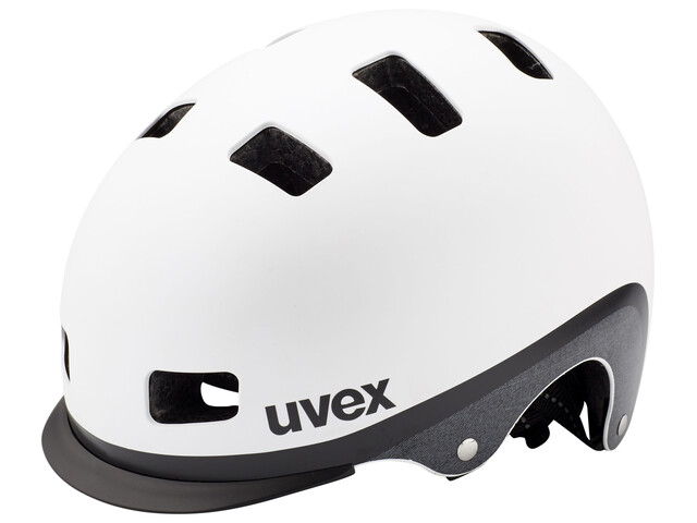 UVEX city 5 Helm white metallic mat